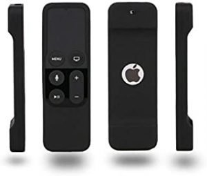 Anti-Slip Silicone Protective Cover Case with Wirst Strap for Apple TV 4th Generation Siri Remote Controller Included Lanyard