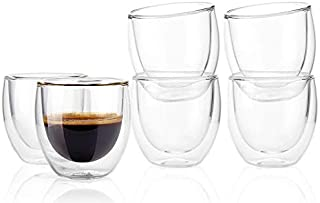 Double Wall Glasses cups Insulated Double layer for Espresso Turkish Coffee Tea