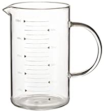 MaoCo 350ml/500ml/1000ml Glass Measuring Cup with Handle Scale Heat Resistant Tea Milk Cup Dishwasher Safe Microwave Safe (350ml)