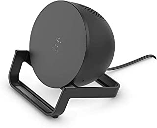 Belkin BoostCharge Wireless Charging Stand 10W + Bluetooth Speaker (Fast Wireless Charger and Speaker for iPhone