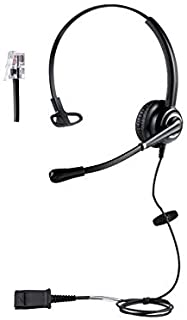 Cisco Phone Headsets for Office Phones - Binaural Call Center HD Telephone Headset with Microphone for Landline Phones - Corded Desk Phone Headset with RJ9 Adapter - Compatible with Cisco IP Phone