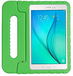 Case for Samsung galaxy Tab A 8.0inch 2019 T290 T295 hand-held Shock Proof EVA full body cover Handle stand case for kid -Green
