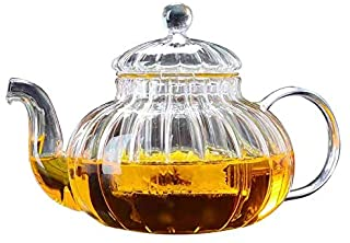 Glass Teapot 800ml with Removable Strainer Infuser