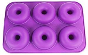 Donut Pan for Baking Donuts - 6 Cavity Donut Maker Pan Mold - Silicone Baking Pan for Cake Donuts and Silicone Soap Molds for Soap Making. No-BPA