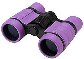 VIQILANY Compact Adjustable 4 x 30 Mini Lightweight Rubber Binoculars Telescope for Child - Purple