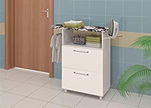 Ditalia Wooden Two Pull Out Doors Cabinet With Ironing Board