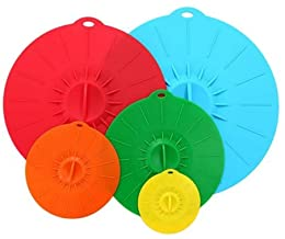 5pcs Silicone Stretch Cover Lid Microwave Cover BPA Free Various Sizes Cover for Pots Pans Bowls