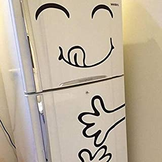 Funny generation carved wall stickers face refrigerator
