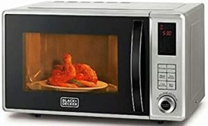 Black+Decker 800W 23 Liter Combination Microwave Oven with Grill
