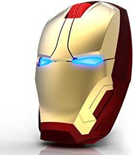 Iron Man wireless mouse personality creative luminous energy notebook computer PC TV universal