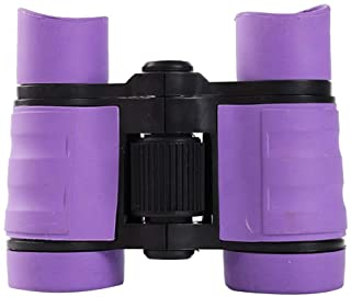 Children's Binoculars Set - Compact Mini Rubber Telescopes for kids Bird Watching - Educational Learning - Hunting - Hiking - Birthday Presents - Gifts for Children (Purple)