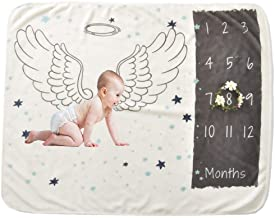 Large Size Photo Props Super Soft Fleece Monthly Baby Milestone Blanket