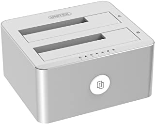Unitek Aluminum USB 3.0 to SATA Dual Bay External Hard Drive Docking Station with UASP for 2.5/3.5-inch HDD SSD