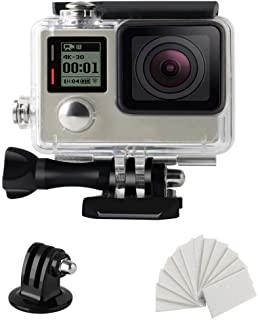 Hegerby Replacement for gopro hero 4 3+ Action Camera Waterproof Case Underwater Housings 45M Diving Shell