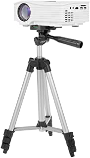 JF-3110 28-65cm Aluminum Alloy Tripod Portable Lightweight Travel 3-sections Stand w/Phone Holder 1/4inch Screw Hole for Projector Smart Phone Camera