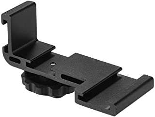 Aluminum Alloy Triple Adapter Vlogging Video Extension Bar Bracket with 1/4 Inch Screw Mount for Video Light Monitor Microphone Studio Flash Audio Recorder Heavy Duty Camera Accessory