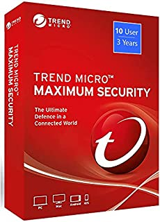Trend Micro Maximum Security: Global Version (Windows/Mac/Android/iOS)- 10 User