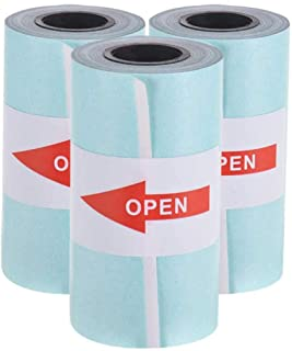 Printable Sticker Paper Roll Direct Thermal Paper with Self-adhesive 57 * 30mm(2.17 * 1.18in) for PeriPage A6 Pocket Thermal Printer for PAPERANG P1/P2 Mini Photo Printer