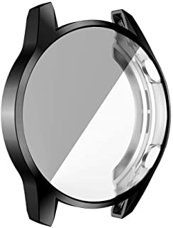 FJ Compatible for Huawei Watch GT2 46mm Ultra Slim Electroplate Transparent TPU Soft Scratch Resistant Case Cover (Black)