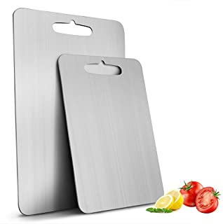 Cutting Board Chopping Board Cutting Block Mincing Mat Thick Stainless Steel Heavy Duty Non-Slip for Kitchen Home Meat Vegetable Fruit