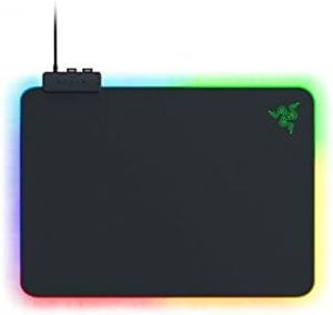 Razer RZ02-03020100-R3M1 Razer RZ02-03020100-R3M1 Firefly Hard V2 RGB Gaming Mouse Pad: Customizable Chroma Lighting - Built-in Cable Management - Balanced Control & Speed - Non-Slip Rubber Base