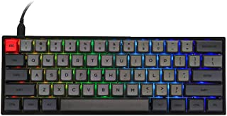 Epomaker SK61 61 Keys Hot Swappable Mechanical Keyboard with RGB Backlit