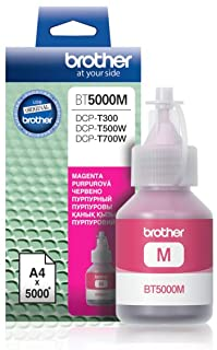 Brother Genuine BT5000M Ultra High Yield Yield Magenta Ink Bottle for Ink Tank Printers