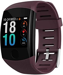 "Heart Rate Blood Pressure Passometer Long Lasting IP67 Waterproof Smart Watch Wristband 1.3"" Touch Screen"