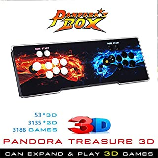 Elikliv 3188 Games In 1 Pandoras Box Key Retro Split 4 Players Arcade Console 3D games
