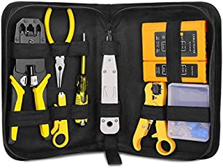 BIKUUL RJ45 Crimping Tool Kit for RJ11/RJ12/CAT5/CAT6/Cat5e