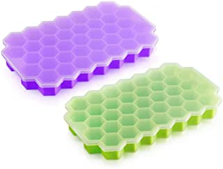 Beauenty Silicone Ice Cube Trays Easy-Release and Flexible Ice Trays with Spill-Resistant Removable Lid BPa Free