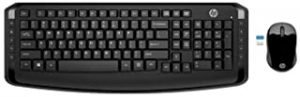 HP 3ML04AA Quick Access Shortcuts - Ten Hot Keys For One-Touch To Important Tools Wireless English - Arabic Keyboard And Mouse 300