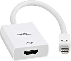 AmazonBasics Mini DisplayPort Thunderbolt to HDMI Adapter - Compatible with Apple iMac and MacBook
