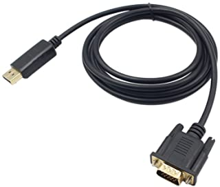 1.8M Male Display Port DP to VGA Male Adapter Cable Converter 1080P Video Cable for Projector DTV TV HDVD Player Black