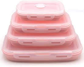 Set of 4 Silicone Food Storage Containers