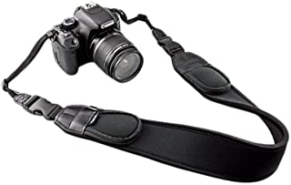 JJC NS-Q2 Extra Wide Comfort Neoprene Neck Strap with Quick Release Clip/Small Pockets