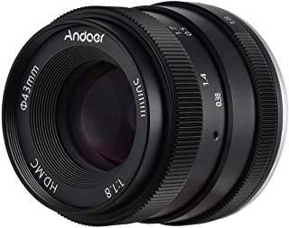 Andoer 50mm F1.8 Digital Camera Lens Large Aperture APS-C Frame Multilayer Film Coating Mirrorless Camera Lens Compatible with Sony NEX3/ NEX5/ NEX7/ A6500/ A6300/ A6100/ A6000/ A5000/ A33/ A35
