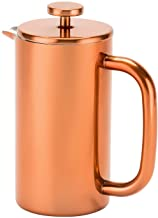Royalford RFU9017 Cafetiere Stainless Steel Portable French Press Coffee Maker | Leak Resistant Double Walled Insulation | Hot Coffee for Hours – Preserves Flavour and Freshness (Copper