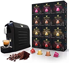 Swiss Presso COFFEE Machine ESPRESSO Coffee Machine Coffee Maker Black with 120 Espresso Coffee Capsules NESPRESSO Compatible