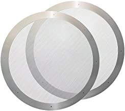 2pcs Reusable Metal Filter for Aeropress Coffee Maker Stainless Steel Coffee Filter Washable & Reusable Mesh Filter