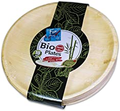 Fun®Everyday Biodegradable Microwave Palm Leaf Organic & Eco Friendly Round Plate 10 inch