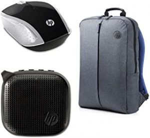HP 15.6 Value BP+SWM+BS HP 15.6 Value Grey Backpack + HP 200 Silver Wireless Mouse + HP 300 Mini Black Bluetooth Speaker