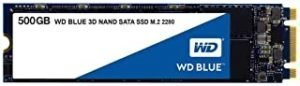 WD Blue 500GB 3D NAND Internal SSD M.2 - WDS500G2B0B