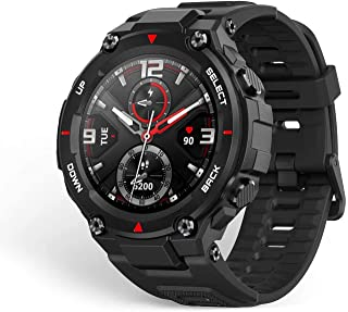 Amazfit A1919 T-rex Smartwatch 1.3 Inch Round AMOLED Screen 14 Sports Modes 5ATM Water Resistant GPS Positioning - Rock Black