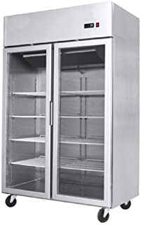 Double Door Upright glass Fronted Fridge YCF 9402 900 Litre