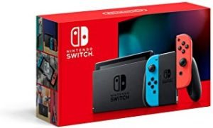 Nintendo Switch Extended Battery Life (Neon Blue/Neon Red) - UAE Version