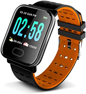 Anself Smart Bracelet Fitness Tracker Large Screen Health Monitoring Blood Pressure Heart Rate Sleeping Sports Detecting Messages Reminder Smart Wristband