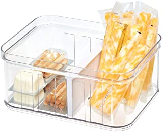 iDesign Crisp Stackable Refrigerator and Pantry Divided Bin