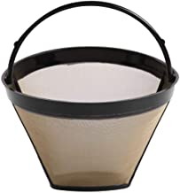 1PC Permanent Reusable #4 Cone Shape Coffee Filter Mesh Basket Stainless New