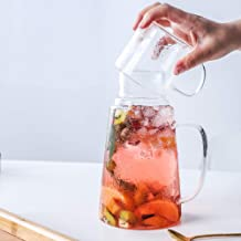 Glass Pitcger Beverage Glass Teapot With Cup Cold Hot Borosilicate Glass Drink Bottle Water Jug Kettle 1200ML